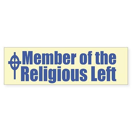 Religious Left Sticker(Bumper)