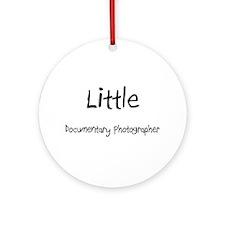 Little Documentary Photographer Ornament (Round)