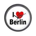 I Love Berlin Wall Clock
