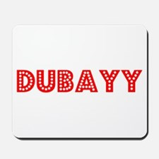 Retro Dubayy (Red) Mousepad