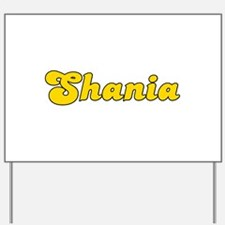 Retro Shania (Gold) Yard Sign