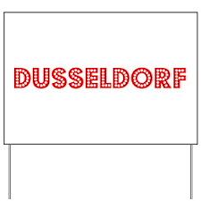 Retro Dusseldorf (Red) Yard Sign