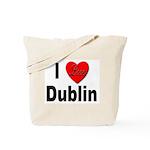 I Love Dublin Ireland Tote Bag
