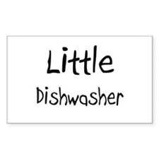 Little Dishwasher Rectangle Decal