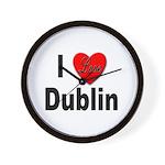 I Love Dublin Ireland Wall Clock