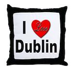 I Love Dublin Ireland Throw Pillow