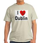 I Love Dublin Ireland Ash Grey T-Shirt
