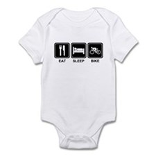 EAT SLEEP BIKE Infant Bodysuit