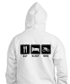 EAT SLEEP BIKE Hoodie