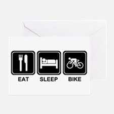 EAT SLEEP BIKE Greeting Card