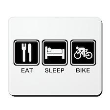 EAT SLEEP BIKE Mousepad
