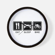EAT SLEEP BIKE Wall Clock
