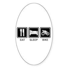EAT SLEEP BIKE Oval Decal