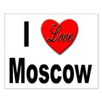 I Love Moscow Russia Small Poster