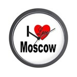 I Love Moscow Russia Wall Clock