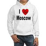 I Love Moscow Russia (Front) Hooded Sweatshirt