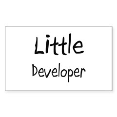 Little Developer Rectangle Decal