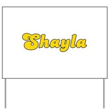 Retro Shayla (Gold) Yard Sign
