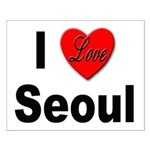 I Love Seoul South Korea Small Poster