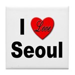 I Love Seoul South Korea Tile Coaster
