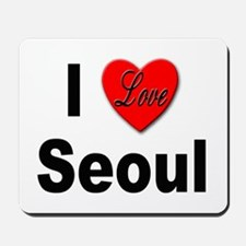 I Love Seoul South Korea Mousepad