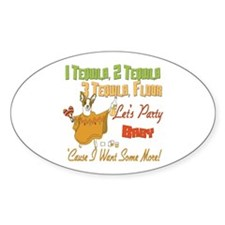 Tequila Party Oval Decal