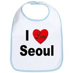 I Love Seoul South Korea Bib