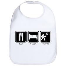 EAT SLEEP TENNIS Bib