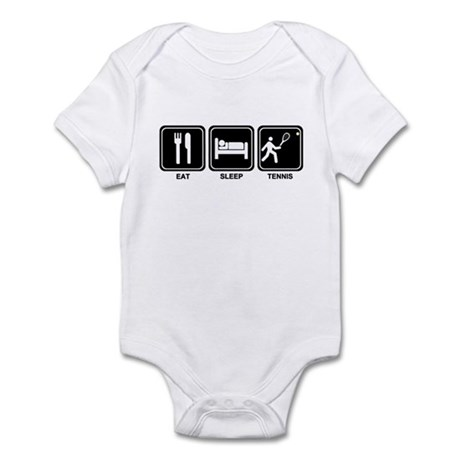EAT SLEEP TENNIS Infant Bodysuit