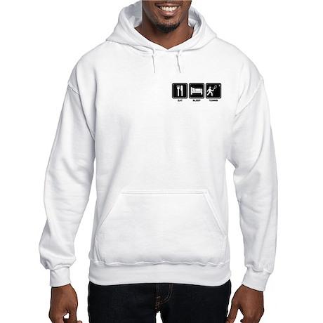 EAT SLEEP TENNIS Hooded Sweatshirt