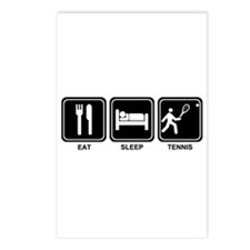 EAT SLEEP TENNIS Postcards (Package of 8)