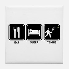 EAT SLEEP TENNIS Tile Coaster