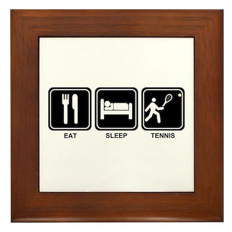 EAT SLEEP TENNIS Framed Tile