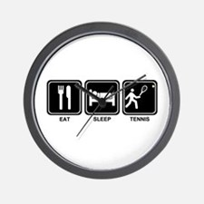 EAT SLEEP TENNIS Wall Clock