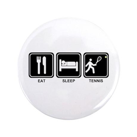 """EAT SLEEP TENNIS 3.5"""" Button (100 pack)"""
