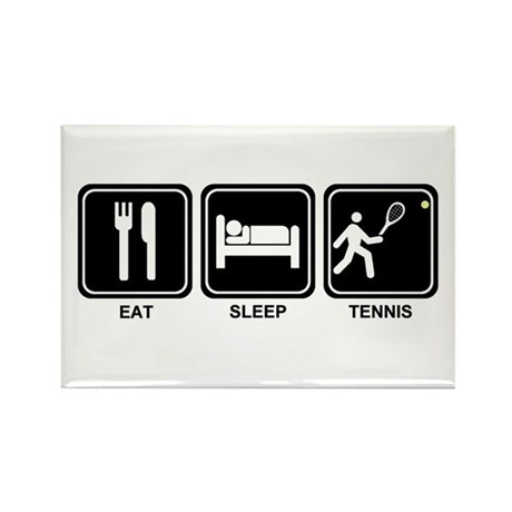 EAT SLEEP TENNIS Rectangle Magnet (100 pack)