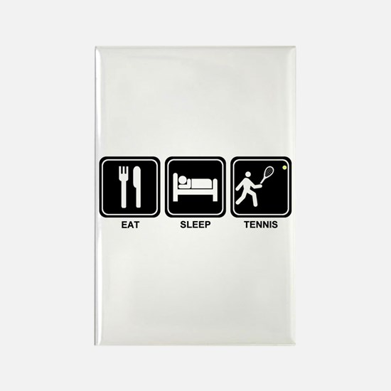 EAT SLEEP TENNIS Rectangle Magnet