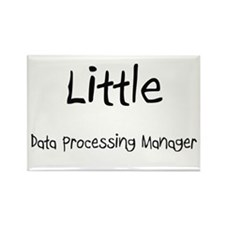 Little Data Processing Manager Rectangle Magnet