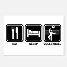 EAT SLEEP VOLLEYBALL Postcards (Package of 8)