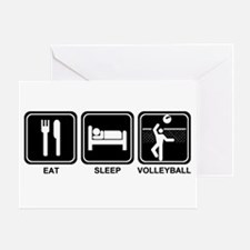 EAT SLEEP VOLLEYBALL Greeting Card