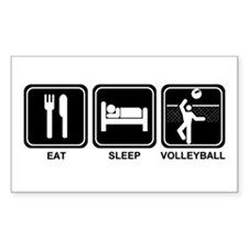 EAT SLEEP VOLLEYBALL Rectangle Decal