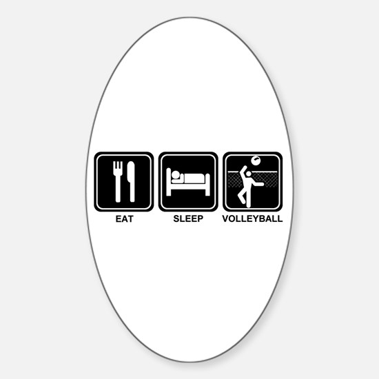 EAT SLEEP VOLLEYBALL Oval Decal