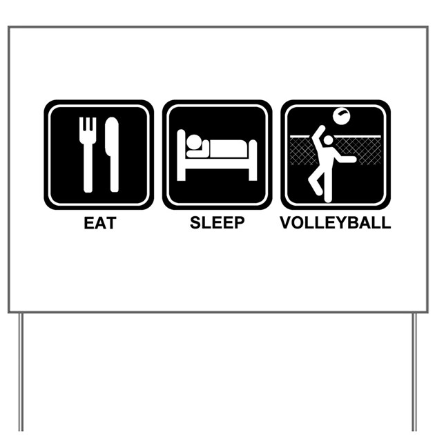 eat sleep volleyball yard sign by eatsleepshop