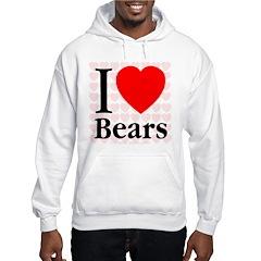 I Love Bears Hoodie