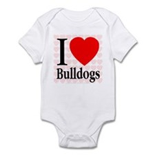 I Love Bulldogs Infant Creeper