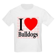 I Love Bulldogs Kids T-Shirt