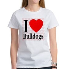 I Love Bulldogs Tee