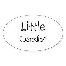 Little Custodian Oval Decal