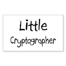 Little Cryptographer Rectangle Decal