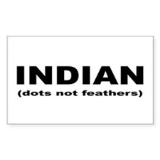 Indian (dots not feathers) Rectangle Decal